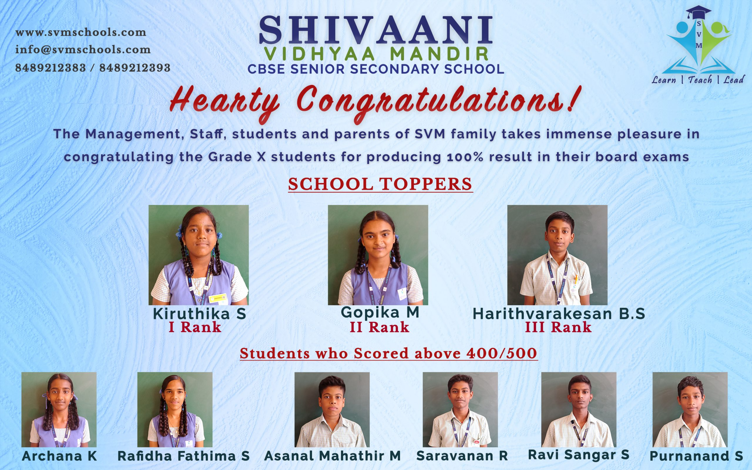 Grade 10 Toppers