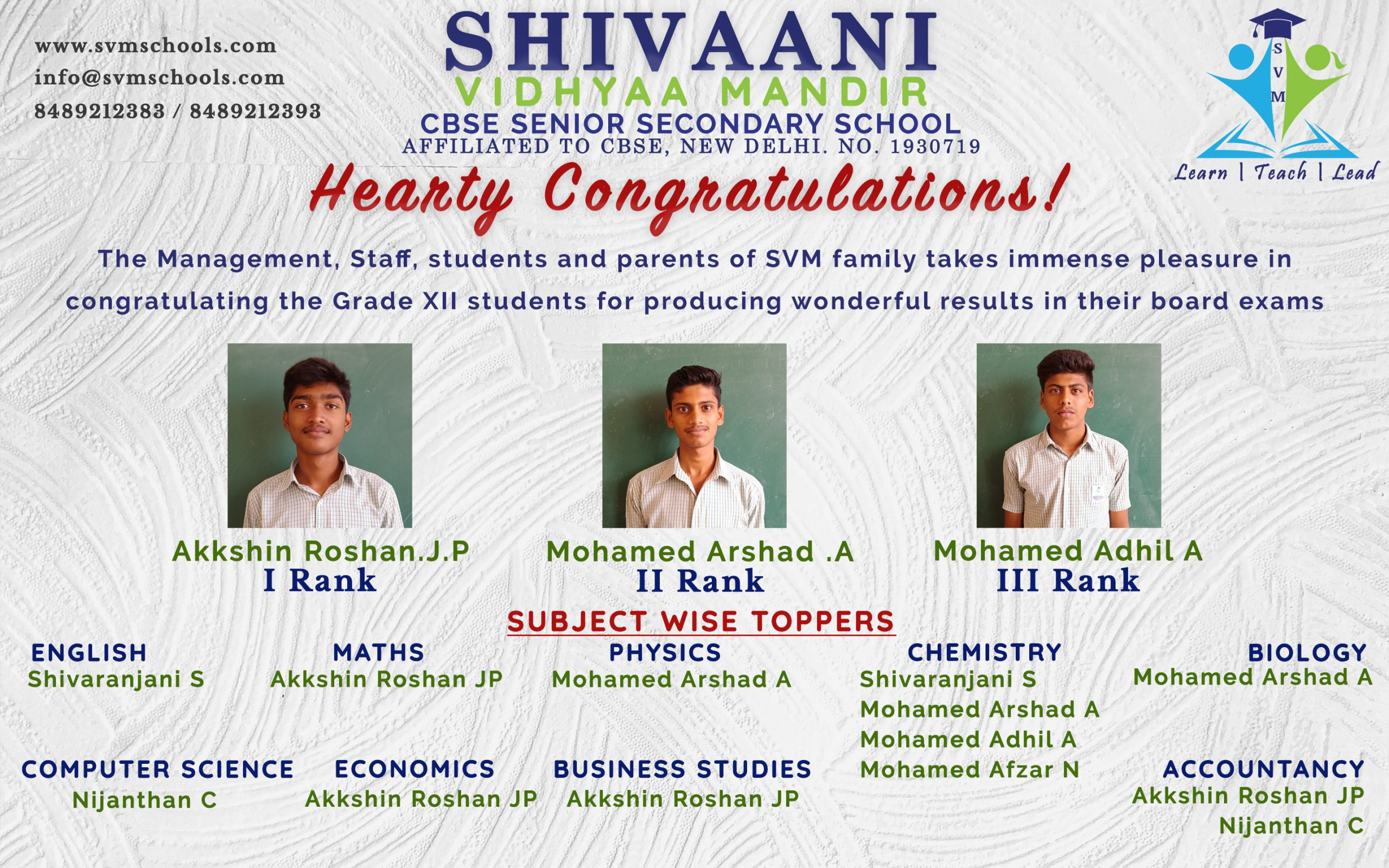 Grade 12 Toppers